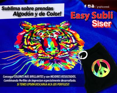 SUBLIMA SOBRE PRENDAS DE COLOR Y ALGODON #EASYSUBLI