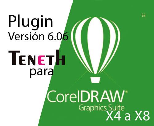 Plugin Teneth Version 6.06 para CorelDraw