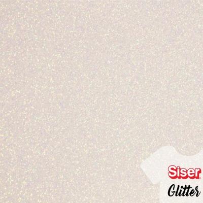 Siser Glitter Blanco Arcoiris 50cm x ml