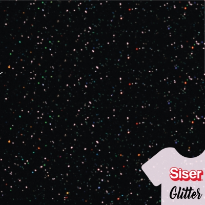 Siser Glitter Negro Galaxia 50cm x ml