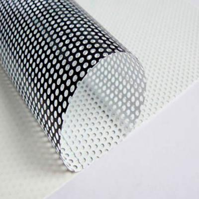 Vinilo Microperforado 140mic 1.6mm hoyo 1,06mts ancho