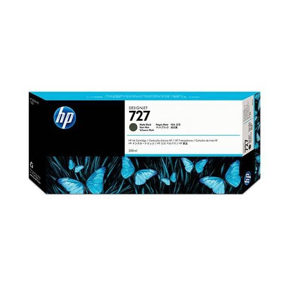 Cartucho HP Nº 727 Negro Matte (300ml)