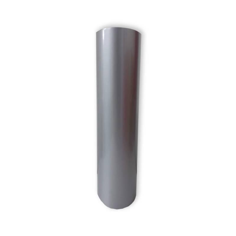 Vinilo Decorativo Autoadhesivo Brillante Rollo de 122 cm de ancho por metro lineal - Color: Plateado
