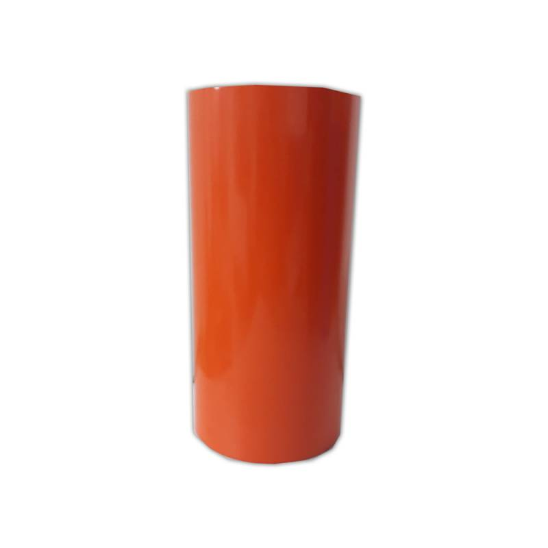 Vinilo Decorativo Autoadhesivo Brillante Rollo de 30cm de ancho por metro lineal - Color: Naranja Oscuro
