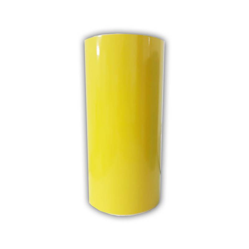 Vinilo Decorativo Autoadhesivo Brillante Rollo de 30cm de ancho por metro lineal - Color: Amarillo Limón