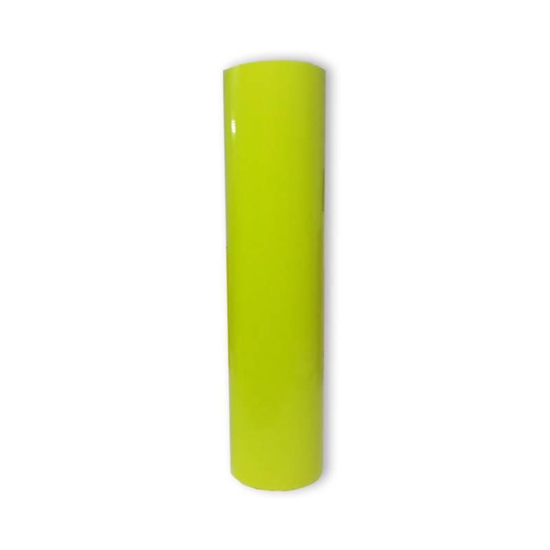 Vinilo Decorativo Autoadhesivo Brillante Rollo de 61cm de ancho por metro lineal - Color: Amarillo Fluo
