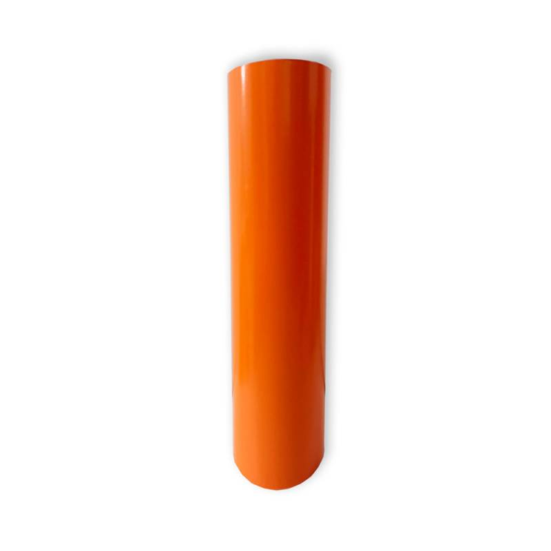Vinilo Decorativo Autoadhesivo Brillante Rollo de 122 cm de ancho por metro lineal - Color: Naranja Claro