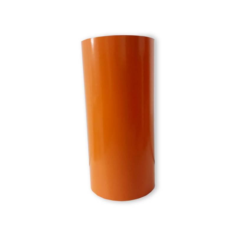 Vinilo Decorativo Autoadhesivo Brillante Rollo de 30cm de ancho por metro lineal - Color: Naranja Claro
