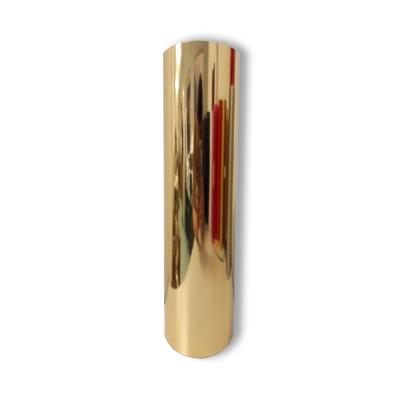 Vinilo Decorativo Autoadhesivo Metalizado Rollo de 122 cm de ancho por metro lineal - Color: Dorado Metalizado