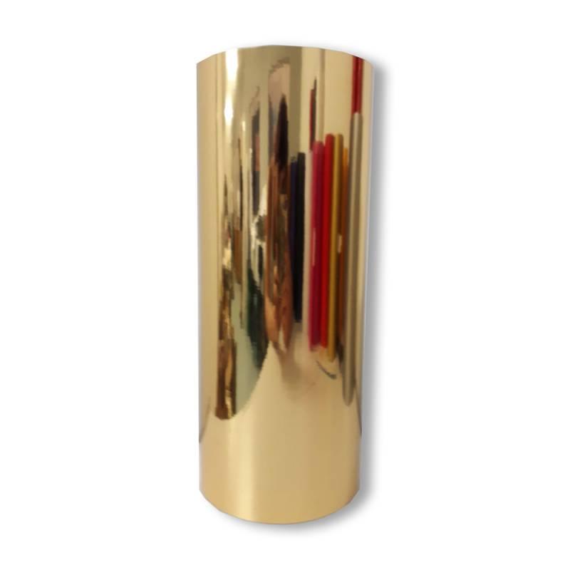 Vinilo Decorativo Autoadhesivo Brillante Rollo de 30cm de ancho por metro lineal - Color: Dorado Metalizado