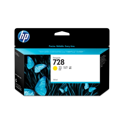 Cartucho HP Nº 728 Amarillo (130ml)