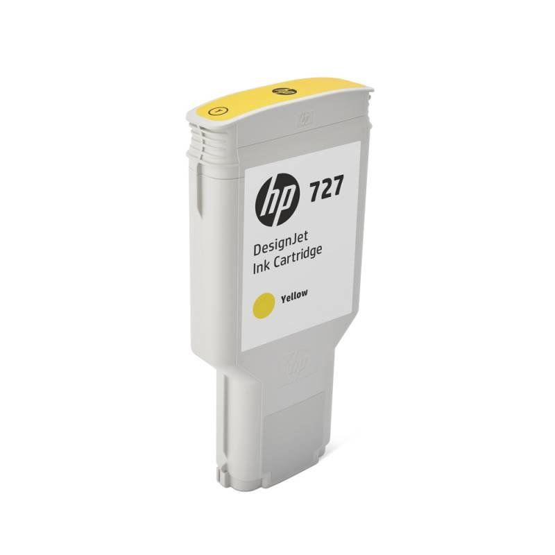 Cartucho HP Nº 727 Amarillo (300ml)