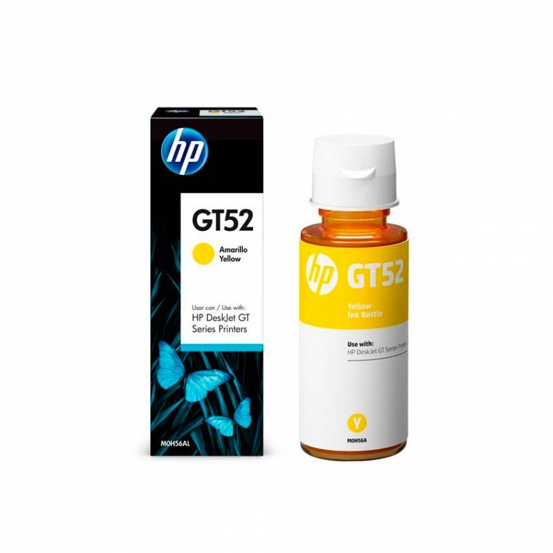 Botella de Tinta HP GT52 Amarillo (70ml)