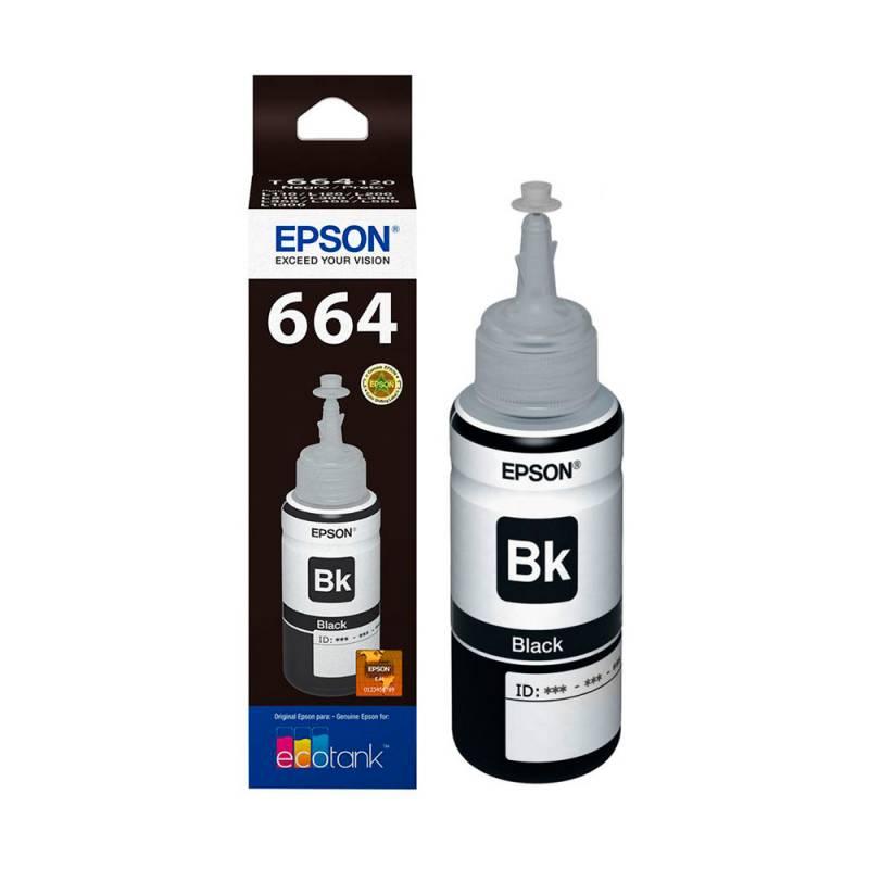 Botella de Tinta Negra T664 para Ecotank (70ml)