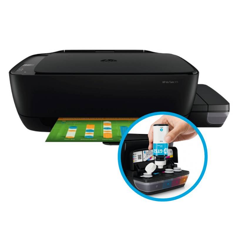Impresora HP Ink Tank 315 Muntifuncional  -  Sistema Continuo
