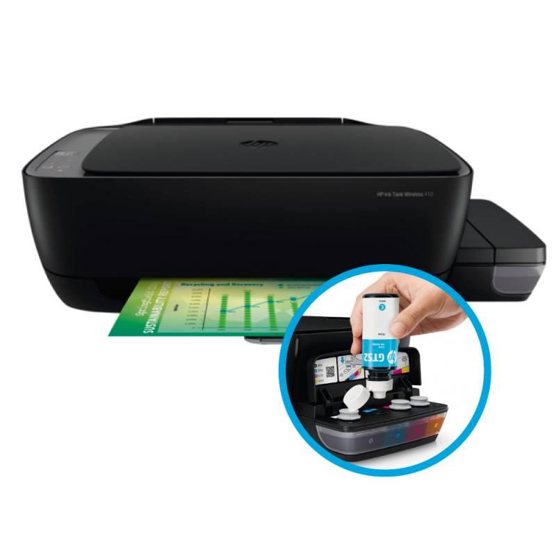 Impresora HP Ink Tank 410 Muntifuncional WiFi  -  Sistema Continuo